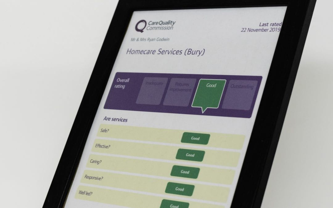 CQC rated Homecare Services rated 'Good' in all areas